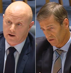 CEO Ian Narev and chief risk officer David Cohen fronted the first of this week's bank hearings.