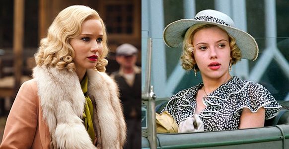 Jennifer Lawrence in Serena (left) and Scarlett Johansson in A Good Woman.