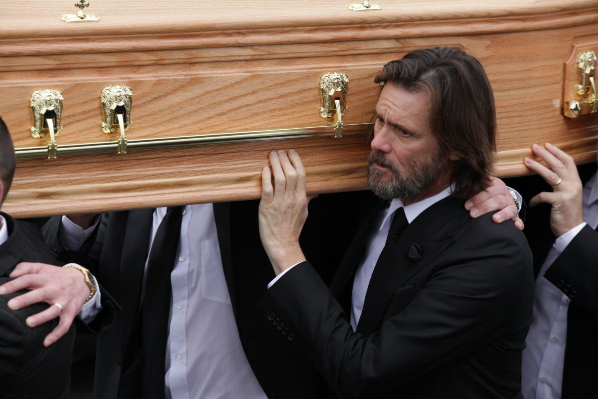 Carrey was a pallbearer at White's funeral. Photo: Getty