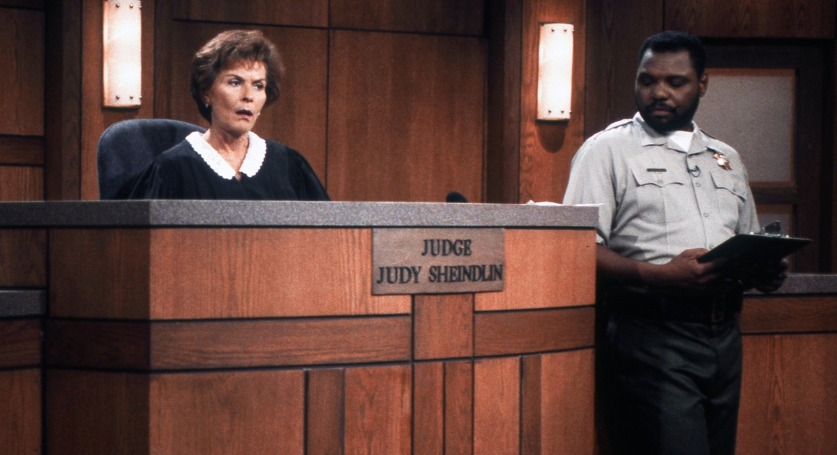 Judge Judy Sheindlin doing what she does best. Photo: Getty