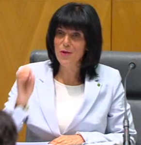 Liberal MP Julia Banks was one of the committee members who fired up at, well, the banks.