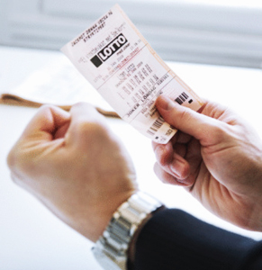 Lotto ticket. Photo: Getty