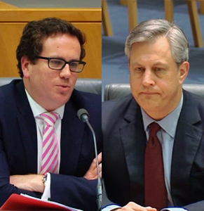 Labor's Matt Keogh squeezed out of Westpac's Brian Harzter that the Coalition raised the tribunal idea with the banks before the hearing.