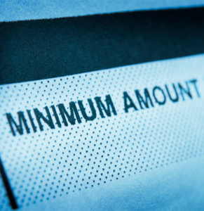 Minimum amount. Photo: Getty