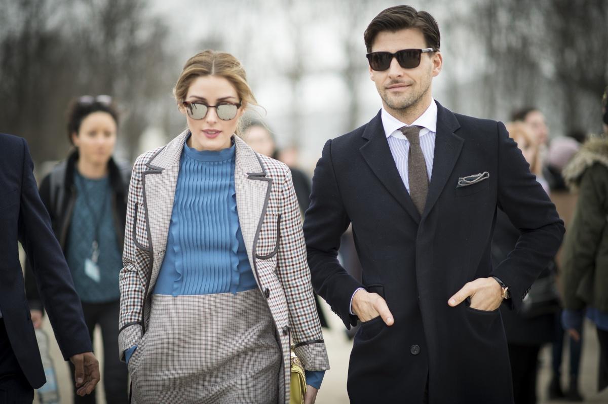 stylish couple Paris