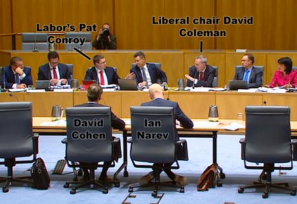 This is the moment Pat Conroy clashed with chair David Coleman.