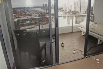 A photo of Tostee's Gold Coast apartment was presented as evidence in court. Photo: Queensland Police Service.