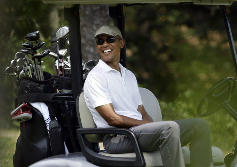 Yellen is working on Obama's golf handicap, says Trump. Photo: AAP