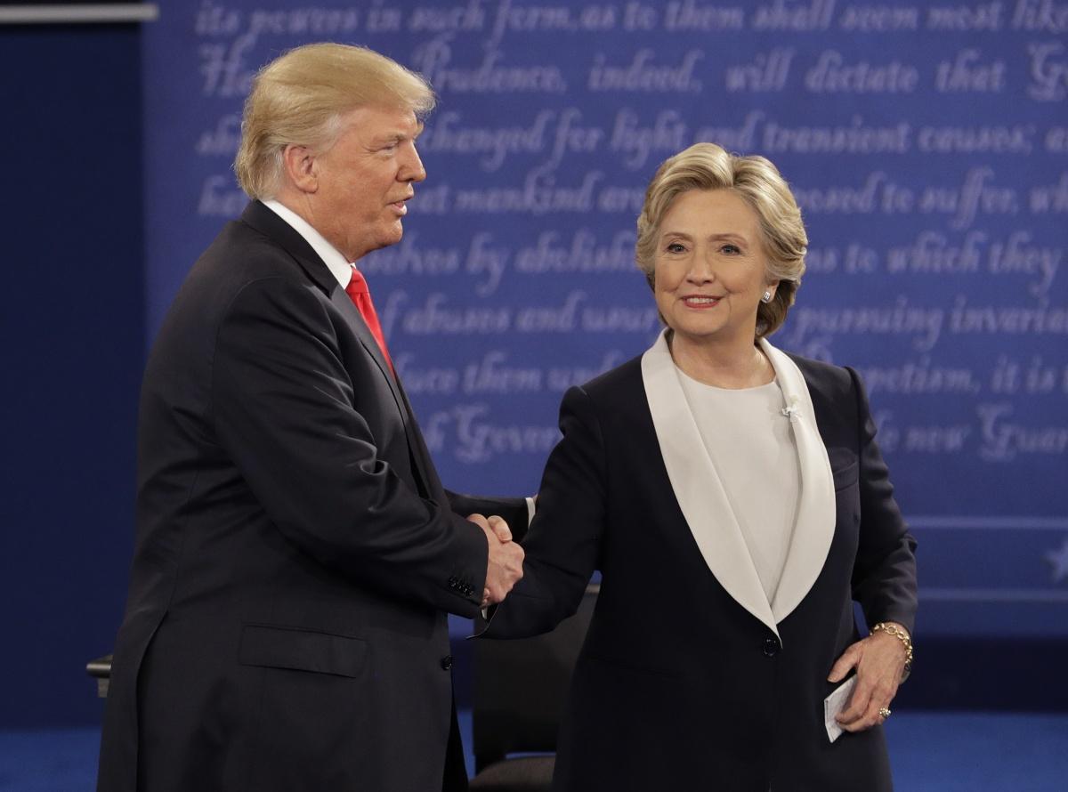 Trump Clinton battlegroundsa
