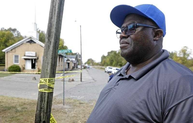 Bishop Clarence Green at the baptist church in Mississippi, torched in what is being called a hate crime. Photo: AAP.