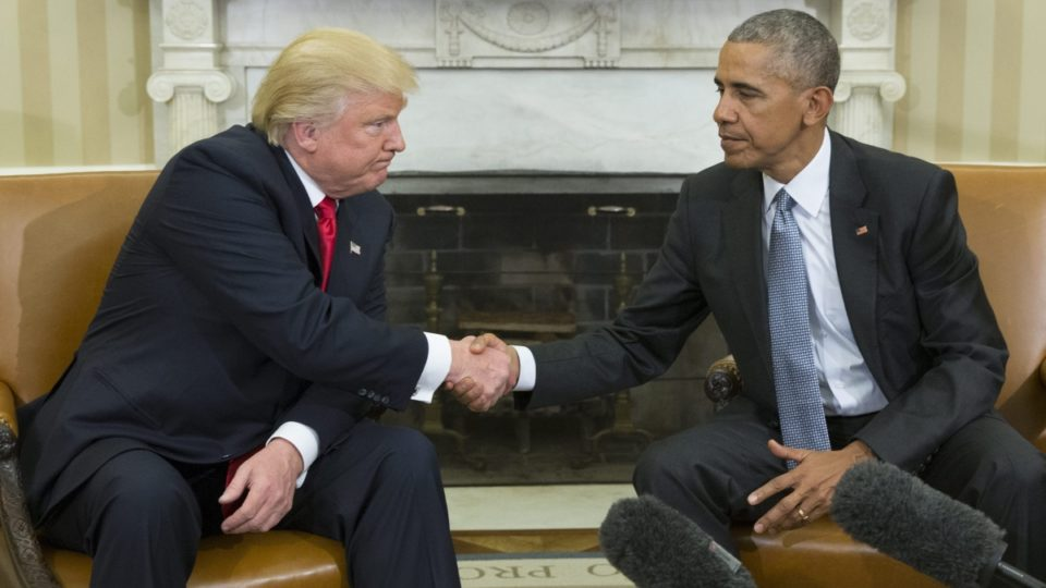 news donald trump barack obamas meeting awkward they looked