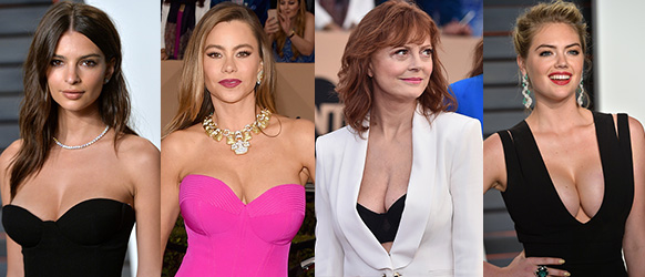 cleavage celebrities