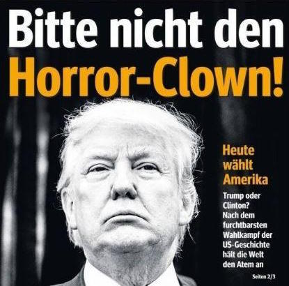 horror clown german paper