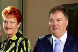 Rod Culleton with One Nation party leader Pauline Hanson