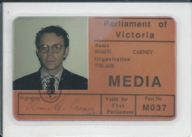 Carney's Victoria Parliament ID.