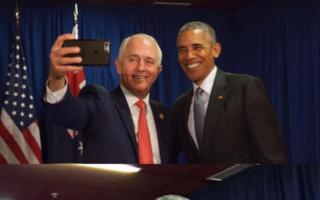 Obama Turnbull selfie APEC