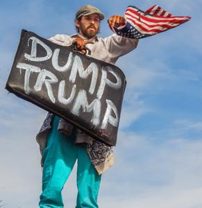 donald trump protestor