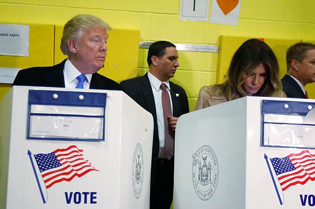 trump voting melania