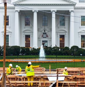 white house construction