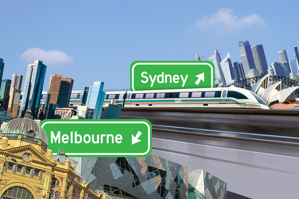 There's one thing getting in the way of a one hour train between Melbourne and Sydney