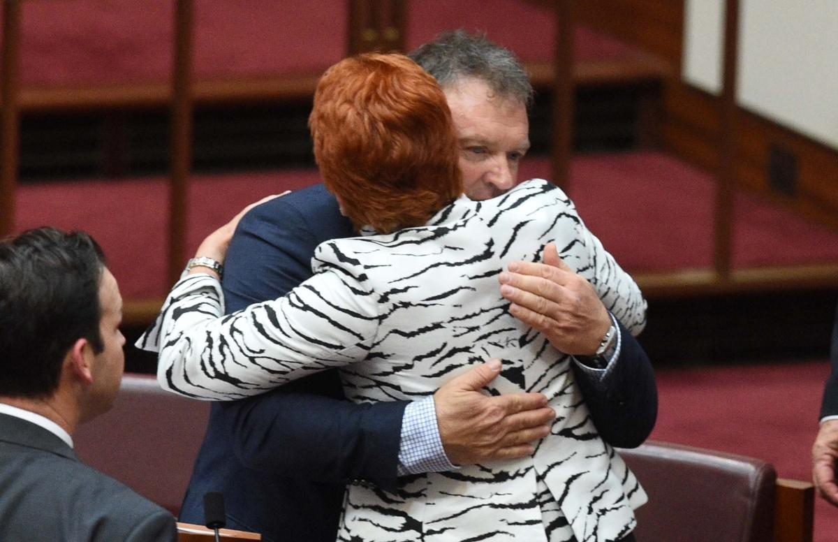 Rod Culleton and Pauline Hanson