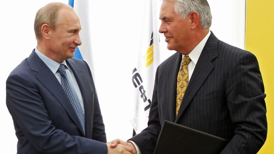 Tillerson Grins and Chuckles When Russian Minister Scolds Liberal Reporter
