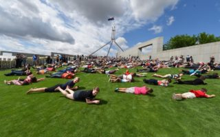 Parliament house roll protest
