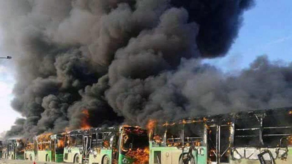 Idlib Syria buses evacuations