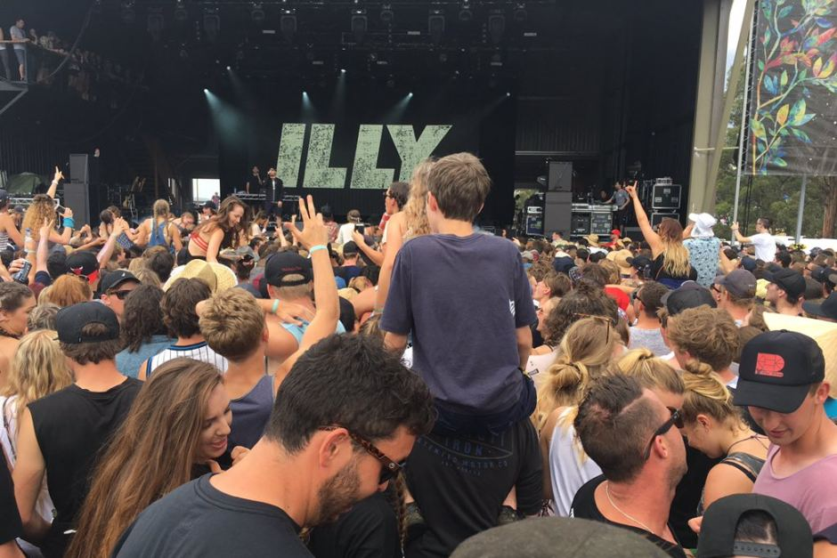 The crowd at Illy's performance Photo: ABC