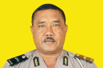 Policeman Wayan Sudarsa was found with 42 wounds to his body. Photo: ABC (supplied)