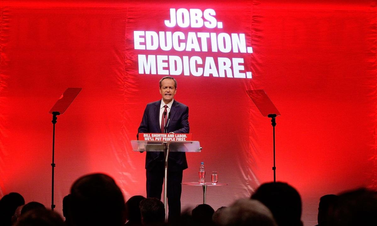 Bill Shorten delivers speech