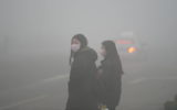 China blanketed in smog