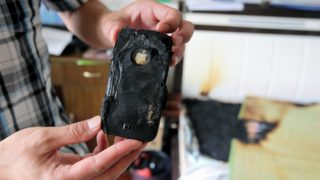 iPhone exploding batteries