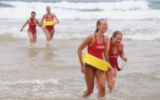 women surf life saving