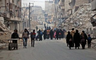 Aleppo thousands flee