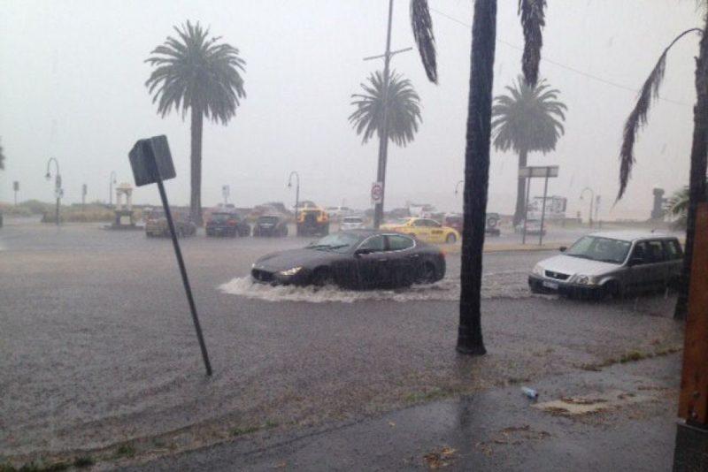 Heavy rain causes faecal contamination at melbourne beaches