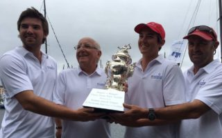 Jim Delegat and sons with Tattersall's Cup