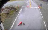 Keas play tricks with traffic cones