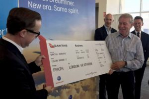 Qantas London Perth direct