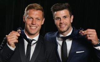 Sam Mitchell and Trent Cotchin