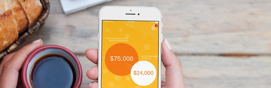 Be on top of your superannuation with the Australian Super app