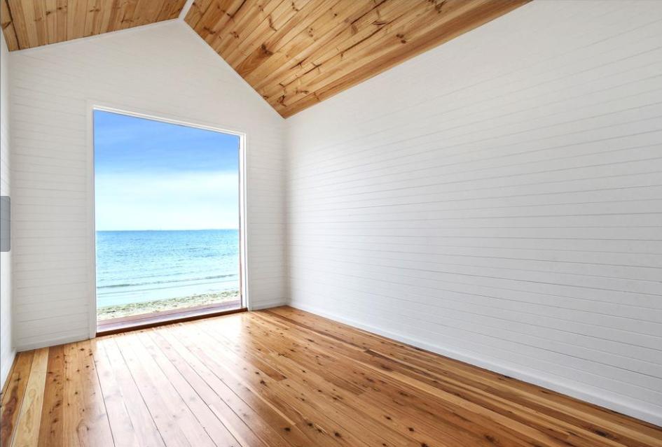 seaside view bathing box property wrap