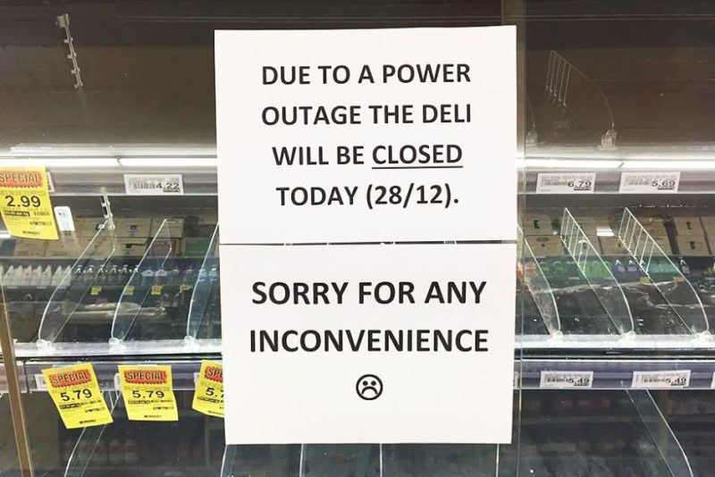 Many businesses across Adelaide were closed or compromised as a result of power outages.