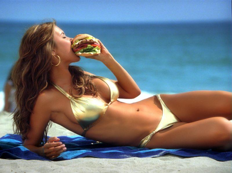 Girls in bikinis protest trump Trump Team Pick Likes Beautiful Women Eating Burgers In Bikinis