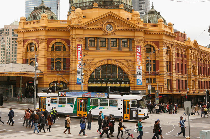 Flinders Street train station in Melbourne was one of the alleged terror targets.