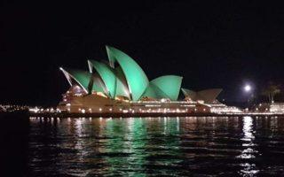 Sydney Opera House green