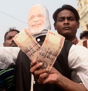 modi protest cash