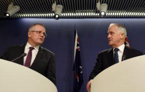Scott Morrison and Malcolm Turnbull