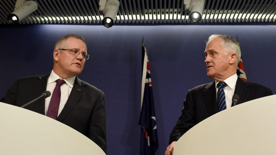 Scott Morrison and Malcolm Turnbull