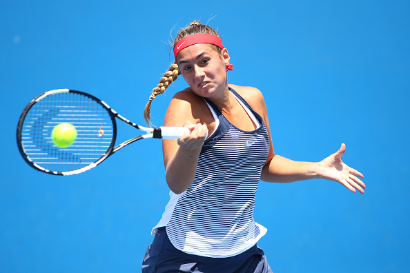 Sara Tomic, pictured playing earlier 2016, was vying for a berth in the Australian Open. Photo: Getty Images